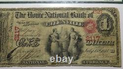 $1 1865 Ellenville New York NY National Currency Bank Note Bill #2117 Ace PMG