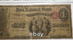 $1 1865 Three Rivers Michigan MI National Currency Bank Note Bill #600 Ace! PMG