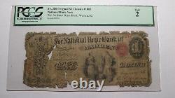 $1 1865 Warren Rhode Island RI National Currency Bank Note Bill #1008 Ace