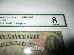 $1 1875 Taunton Massachusetts MA National Currency Bank Note Bill #766 Ace