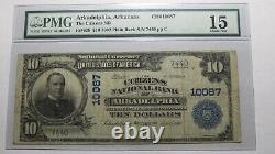 $10 1902 Arkadelphia Arkansas AR National Currency Bank Note Bill #10087 PMG F15