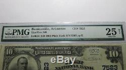 $10 1902 Bentonville Arkansas AR National Currency Bank Note Bill Ch. #7523 VF25