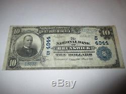 $10 1902 Brunswick Georgia GA National Currency Bank Note Bill! Ch. #4944 VF