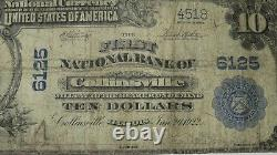 $10 1902 Collinsville Illinois IL National Currency Bank Note Bill Ch. #6125