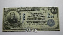 $10 1902 Columbia South Carolina SC National Currency Bank Note Bill Ch. #8133