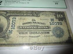 $10 1902 Dowagiac Michigan MI National Currency Bank Note Bill Ch. #10073 PCGS