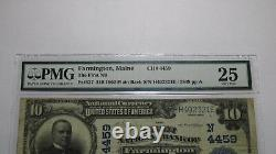 $10 1902 Farmington Maine ME National Currency Bank Note Bill Ch #4459 PMG! VF25