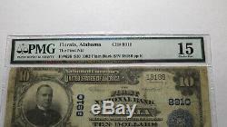 $10 1902 Florala Alabama AL National Currency Bank Note Bill Ch. #8910 PMG FINE
