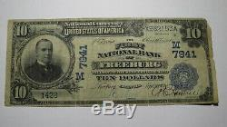 $10 1902 Freeburg Illinois IL National Currency Bank Note Bill Ch. #7941 RARE
