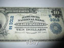 $10 1902 Gloversville New York NY National Currency Bank Note Bill! Ch #3312 VF