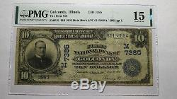 $10 1902 Golconda Illinois IL National Currency Bank Note Bill Ch. #7385 F15 PMG