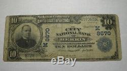 $10 1902 Herrin Illinois IL National Currency Bank Note Bill! Ch. #8670 FINE