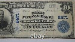 $10 1902 Hoosick Falls New York NY National Currency Bank Note Bill! #2471 VF