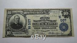 $10 1902 Lock Haven Pennsylvania PA National Currency Bank Note Bill! #507 VF+