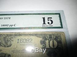 $10 1902 Mason City Iowa IA National Currency Bank Note Bill Ch. #2574 FINE! PMG