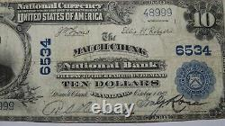 $10 1902 Mauch Chunk Pennsylvania PA National Currency Bank Note Bill #6534 VF