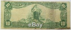 $10 1902 Public National Bank Houston Charter 12055 Texas Currency Note #18516F