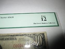 $10 1929 Auburn Nebraska NE National Currency Bank Note Bill Ch. #3628 FINE PCGS