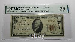 $10 1929 Bartlesville Oklahoma OK National Currency Bank Note Bill Ch #9567 VF25