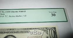 $10 1929 Benton Harbor Michigan MI National Currency Bank Note Bill #10143 VF