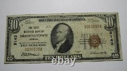$10 1929 Brownstown Indiana IN National Currency Bank Note Bill Charter #9143 VF