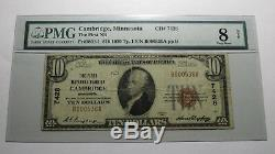 $10 1929 Cambridge Minnesota MN National Currency Bank Note Bill! Ch. #7428 PMG