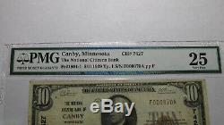 $10 1929 Canby Minnesota MN National Currency Bank Note Bill Ch. #7427 VF25 PMG