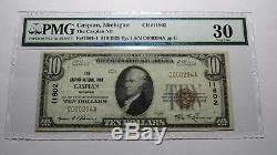 $10 1929 Caspian Michigan MI National Currency Bank Note Bill! Ch. #11802 VF PMG