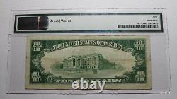 $10 1929 Clarksburg West Virginia WV National Currency Bank Note Bill #7681 VF30