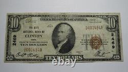 $10 1929 Clinton Iowa IA National Currency Bank Note Bill Ch. #2469 RARE VF