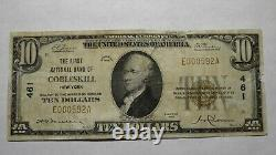 $10 1929 Cobleskill New York NY National Currency Bank Note Bill Ch. #461 RARE