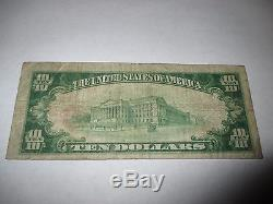 $10 1929 Cooperstown New York NY National Currency Bank Note Bill Ch. #280 Fine