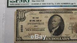 $10 1929 Dyersville Iowa IA National Currency Bank Note Bill Ch. #9555 VF20 PMG