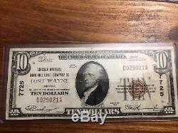 $10 1929 Fort Wayne Indiana IN National Currency Bank Note Bill! 7725