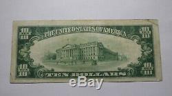 $10 1929 Gastonia North Carolina NC National Currency Bank Note Bill! #7536 VF