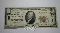 $10 1929 Jamestown New York NY National Currency Bank Note Bill Ch. #8453 RARE