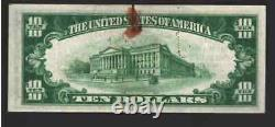 $10 1929 MERIDIAN Mississippi MS National Currency Bank Note Ch. #13551 NT0133