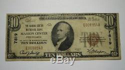 $10 1929 Marion Center Pennsylvania PA National Currency Bank Note Bill Ch #7819