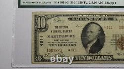 $10 1929 Martinsburg West Virginia WV National Currency Bank Note Bill! #4811