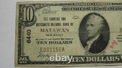 $10 1929 Matawan New Jersey NJ National Currency Bank Note Bill Ch. #6440 RARE