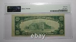 $10 1929 Muskogee Oklahoma OK National Currency Bank Note Bill! #12890 VF35 PMG