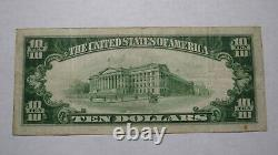 $10 1929 Oneonta New York NY National Currency Bank Note Bill! Ch. #2151 VF