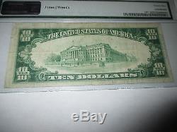 $10 1929 Paola Kansas KS National Currency Bank Note Bill Ch. #3350 VF PMG