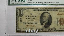 $10 1929 Pawling New York NY National Currency Bank Note Bill Ch. #1269 F15 PMG