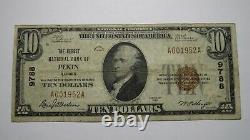 $10 1929 Pekin Illinois IL National Currency Bank Note Bill Charter #9788 FINE+