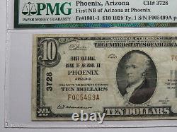 $10 1929 Phoenix Arizona AZ National Currency Bank Note Bill! Ch. #3728 VF25 PMG