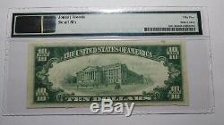 $10 1929 Pitman New Jersey NJ National Currency Bank Note Bill! Ch. #8500 AU55