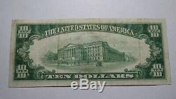 $10 1929 Pittsburg Kansas KS National Currency Bank Note Bill Ch. #3475 VF+