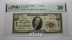 $10 1929 Port Arthur Texas TX National Currency Bank Note Bill Ch #5485 VF30 PMG