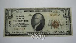 $10 1929 Quarryville Pennsylvania PA National Currency Bank Note Bill #3067 VF++